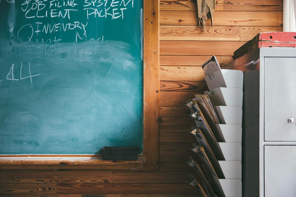 woodshop chalkboard